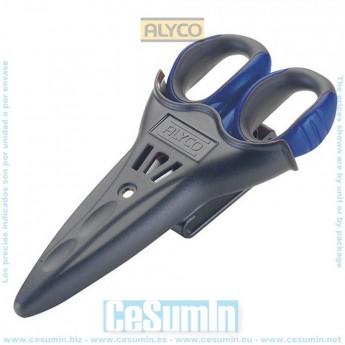 ALYCO 108215 - Tijeras para electricistas 145 mm y funda de plastico ABS resistente a golpes