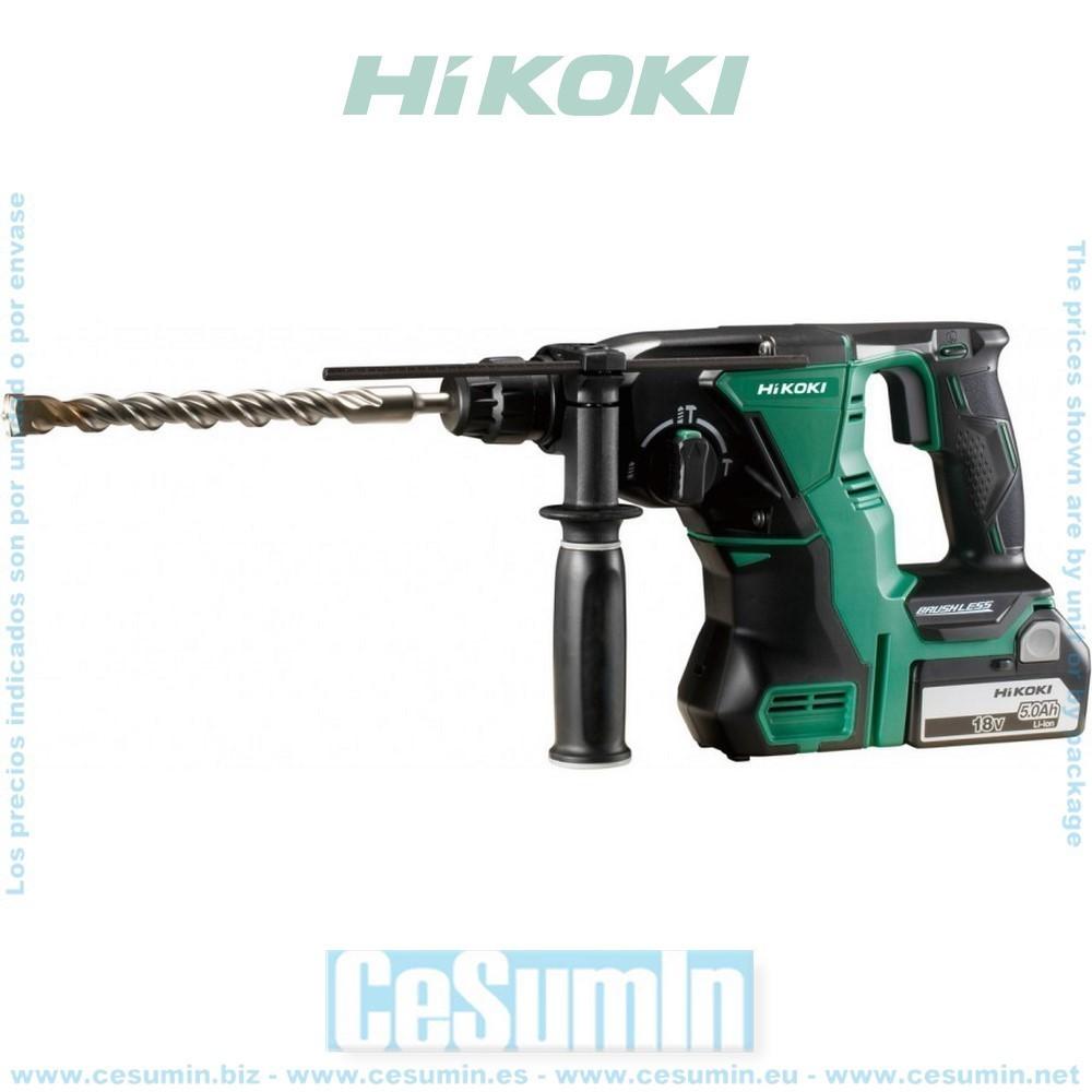 HIKOKI 51201216 - Martillo a batería sin escobillas SDS-Plus 18V Li-Ion 2.2J 1050rpm 3950ipm sin bateria ni cargador