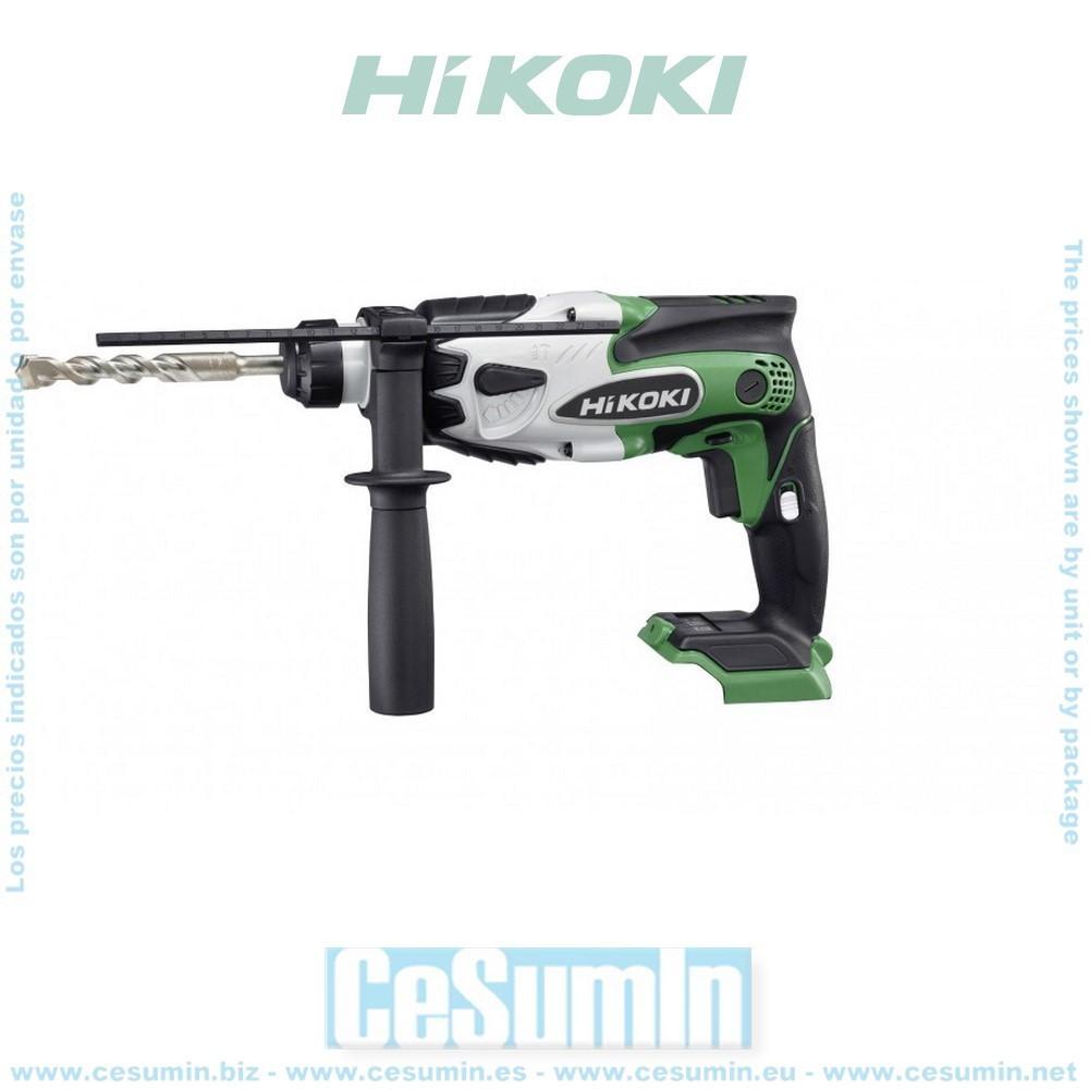 HIKOKI 51222714 - Martillo SDS-Plus 18V Li-Ion 1.2J 2 velocidades 3100-6200ipm sin bateria ni cargador