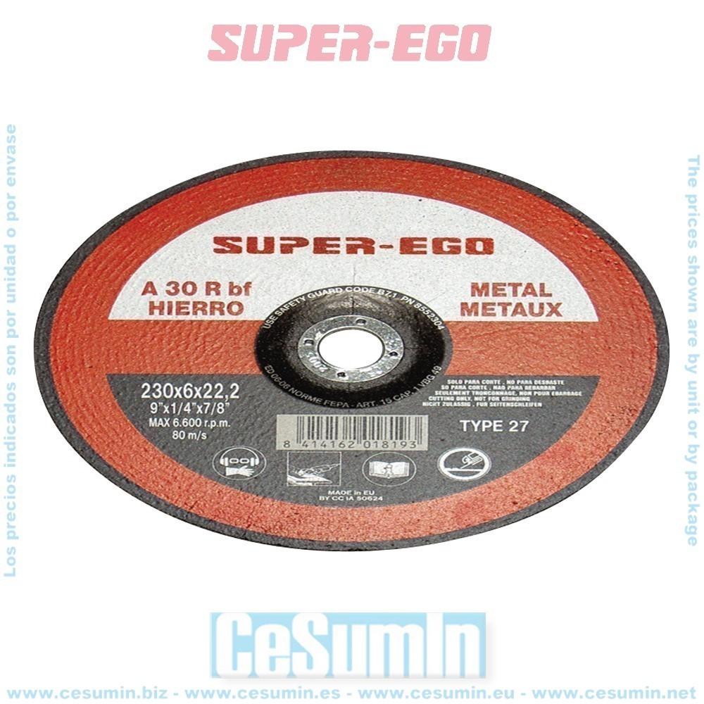 SUPER EGO 855115700 - Disco corte super cut metal 115x1