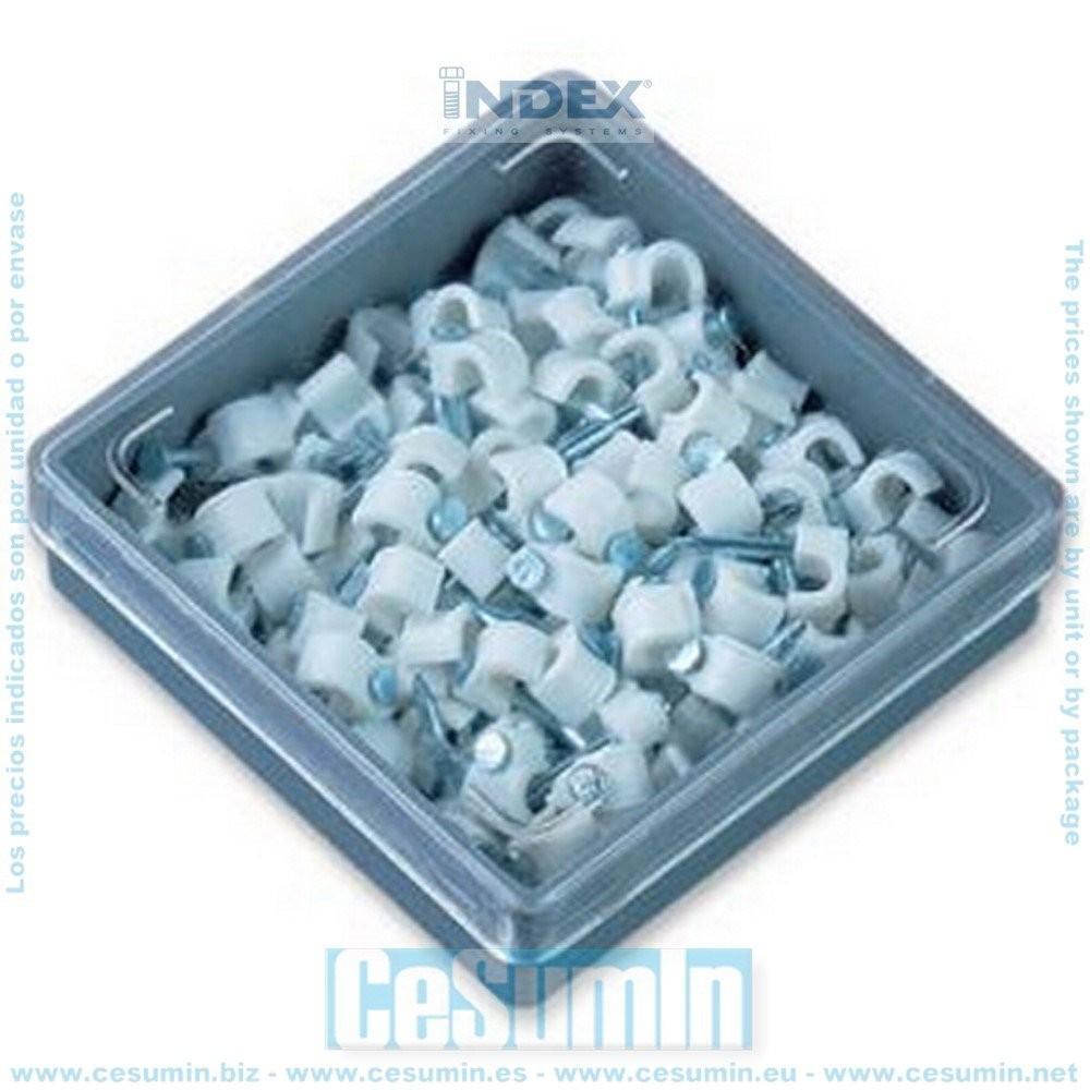 INDEX GRBL020 - Grapillas blancas de nylon con clavo de acero zincado 2
