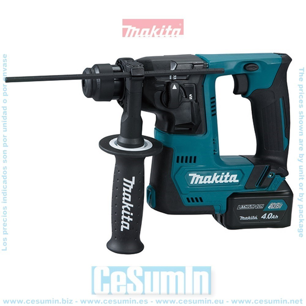MAKITA HR140DSMJ - Martillo ligero 14mm a bateria 10.8v 4ah cxt