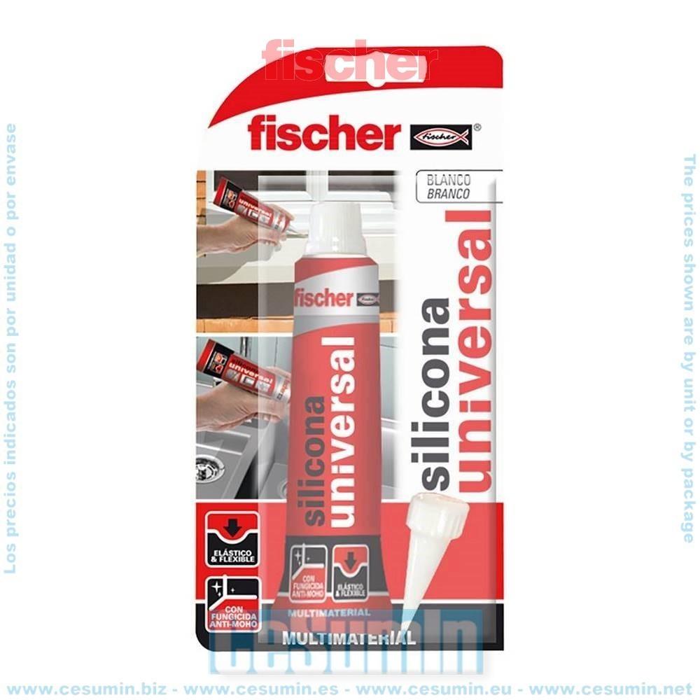 Fischer 098719 Blister silicona universal translucida