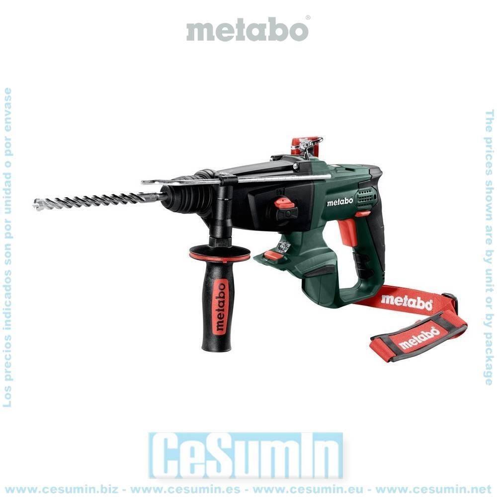 Metabo 600210840 Martillo combinado SDS Plus a bateria 18V Li-Ion KHA 18 LTX Maletín MetaLoc