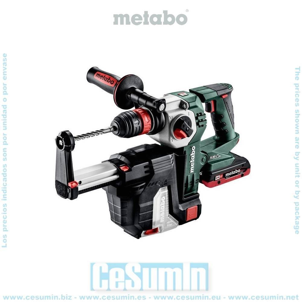 Metabo 600211930 Set martillo SDS Plus sin escob. a bateria 18V LiHD 4Ah + LiHD 5,5Ah Li-Ion KHA18LTX BL24 Q Set + ISA18LTX