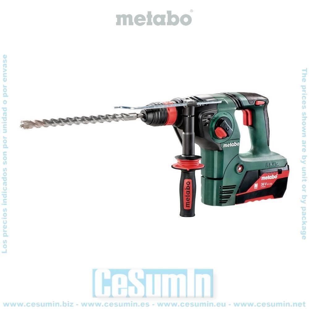 Metabo 600795650 Martillo combinado SDS Plus a bateria 36V 2x 5,2Ah Li-Ion KHA 36 LTX Con maletín