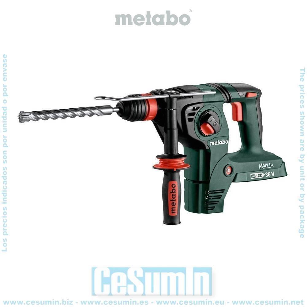 Metabo 600796840 Martillo combinado SDS Plus a bateria 18V Li-Ion KHA 36-18 LTX 32 Maletín MetaLoc