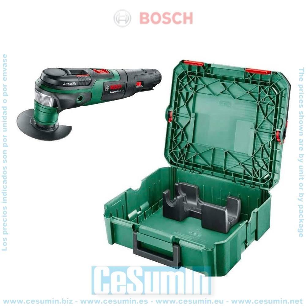 Bosch 0603104002 Multiherramienta a batería AdvancedMulti 18 AutoClic + Systembox sin batería ni cargador