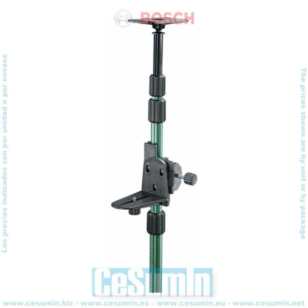 "Bosch 0603693100 Barra telescópica para niveles láser Altura hasta 3,2m Rosca 1/4"""