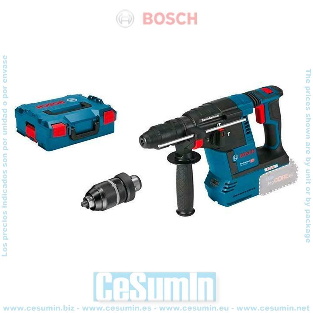 Bosch 0611910001 Martillo perforador a batería GBH 18V-26F SDS Plus sin batería ni cargador