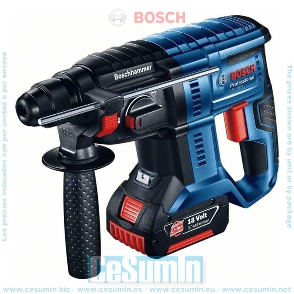 Bosch 0611911001 Martillo perforador a batería GBH 18V-20 SDS Plus 1,7J + 2 baterías 5,0Ah + cargador GAL 18V-40 + L-Boxx